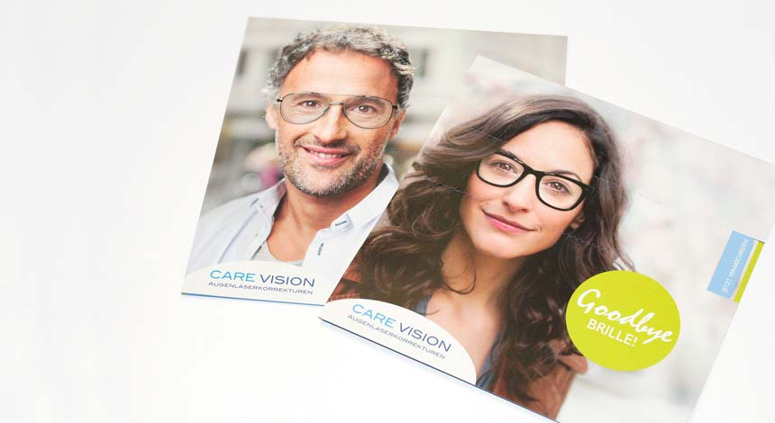 CARE Vision, Augenlasern, Werbemittel, Mailing, Covers