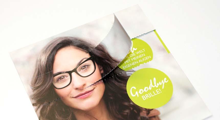CARE Vision, Augenlasern, Werbemittel, Mailing