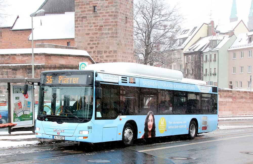 CARE Vision Außenwerbung, Busbeklebung