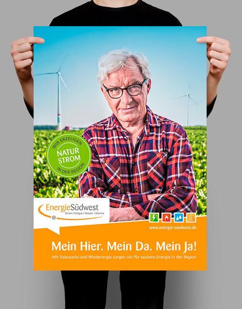 EnergieSüdwest AG, Strom,Werbemittel, Poster