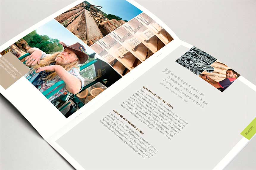Kuntz Sägewerk, Industriepaletten24, Broschüre