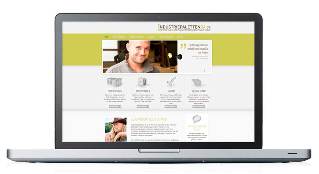 Kuntz Sägewerk, Industriepaletten24, Website